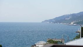 Timelapse of sea waves in the Yalta Gulf 2. Timelapse of sea waves in the Yalta Gulf windy day stock video footage