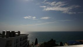 Timelapse of sea waves in the Yalta Gulf. Windy day stock video