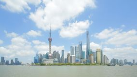 Timelapse of Shanghai skyline stock video footage