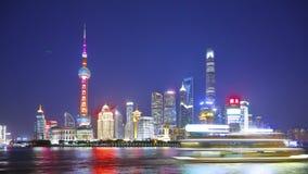 Timelapse of Shanghai skyline 4k stock video footage