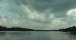 Timelapse shot of a beautiful lake in Stockholm. Shot in Stockholm, Sweden stock video footage