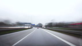 Timelapse shot of a ride on German highway stock video footage