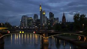 Timelapse Skyline Frankfurt am Main stock video footage