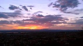 Timelapse skymning till natten San Miguel de Allende lager videofilmer