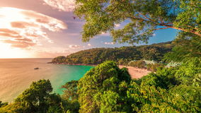 Timelapse of small beautiful tropical beach in Phuket Island, Thailand. January, 2016. stock footage