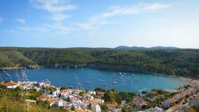 Timelapse of small mediterranean bay of Cala Montgo, costa brava, Spain stock footage