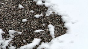 Timelapse of snow melting on rocks. Video of timelapse of snow melting on rocks stock video footage