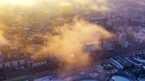 Timelapse sobre la calle central de Minsk Capital en luz del sol almacen de video