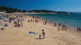 Timelapse - spiaggia di Los Peligros (Santander, Spagna) stock footage