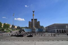 Timelapse on the square of Kiev stock video