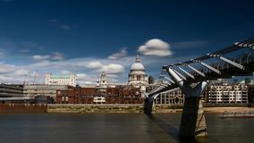 Timelapse - St. Paul's cathedral, London stock footage