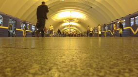 Timelapse St. Petersburg Russia Metro passengers trains subway. Timelapse St. Petersburg Russia Metro passengers subway stock video