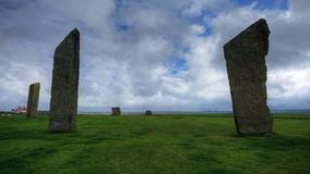 A timelapse of the Standing Stones of Stenness, Orkney, Scotland stock footage