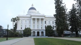 Timelapse State Capitol in Sacramento, California 4K stock video
