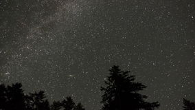 Timelapse stellato del cielo con la Via Lattea stock footage