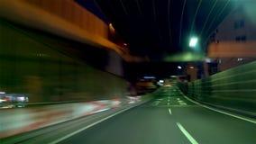 Timelapse - storstads- motorväg ` För inre kretsrutt` C1 medurs arkivfilmer