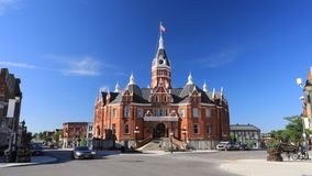 Timelapse of the Stratford City Hall in Canada 4K. A Timelapse of the Stratford City Hall in Canada 4K stock footage