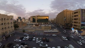 Timelapse of the street in the old district of Dubai, which is the fortress of al-Fahidi, Dubai, UAE stock footage