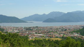 Timelapse of Summer Travel Destination, Center Marmaris, Turkey, zoom out stock video footage