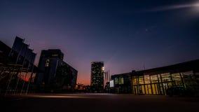 Timelapse sunrise Bonn Congress center Germany stock footage