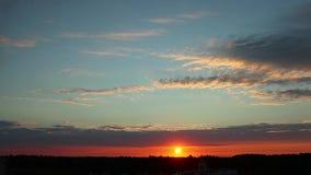 Timelapse Sunrise Clouds stock footage