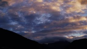 Timelapse: Sunrise in the Italian Alps stock video