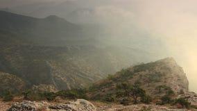 Timelapse sunrise in the mountains Ai-Petri. Alupka, Crimea, Ukraine stock video footage