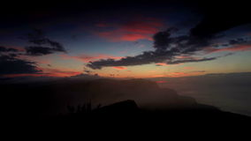 Timelapse sunrise in the mountains Ai-Petri. Alupka, Crimea, Ukraine stock video