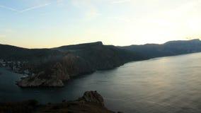 Timelapse sunrise in the mountains. Balaklava, Crimea, Ukraine stock footage