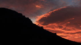 Timelapse sunrise in the mountains Demerdji. Alushta, Crimea, Ukraine stock video footage