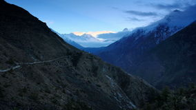 Timelapse sunrise in the mountains Everest (8848м), Himalayas, Nepal. stock footage