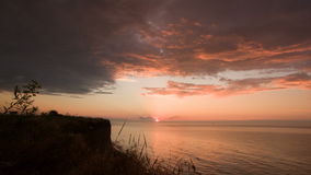 Timelapse sunrise over the sea in summer stock footage