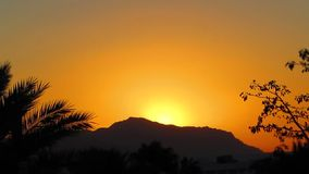 Time lapse sunrise. Time lapse tropical sunrise in Egypt stock video footage