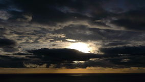Timelapse of sunset stock video
