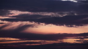 Timelapse Sunset Fairy Clouds stock video