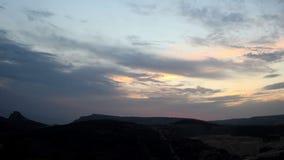 Timelapse sunset in the mountains. Balaklava, Crimea, Ukraine stock video footage