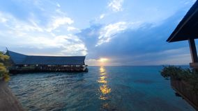 2016-04 Timelapse Sunset Sipadan Kapalai Dive Resort stock video