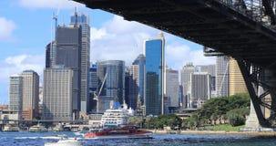 Timelapse Sydney, Australi? de stad in en Havenbrug 4K stock footage