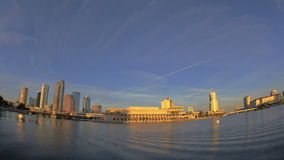 Timelapse Tampa Fisheye Skyline Sunset stock video