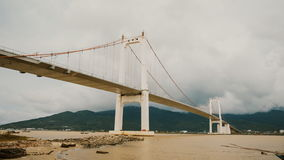 Timelapse Thuan Phuoc bridge in Da Nang city, Vietnam. stock video