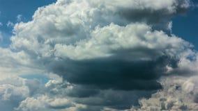 Timelapse tormentoso das nuvens filme