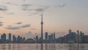 Timelapse Toronto horisontsolnedgång stock video