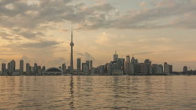 Timelapse Toronto Skyline Sunset stock video footage
