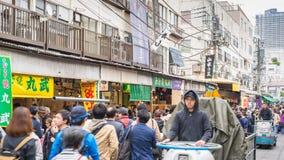 Tokyo Japan time lapse. Timelapse of tourist at Tsukiji Fish Market, Tokyo, Japan 4K time lapse stock footage