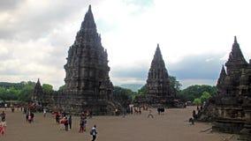 Timelapse of Tourists Activity on Prambanan Temple stock video footage