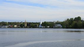 Timelapse of the town of Mahone Bay, Nova Scotia 4K stock video