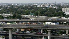 Timelapse of traffic on Bangkok stock video