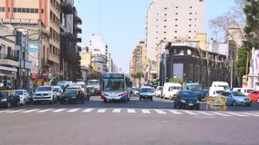Timelapse of traffic in Buenos Aires Royalty Free Stock Photography