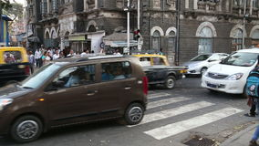Timelapse of traffic at busy street in Mumbai. stock video