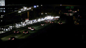 Timelapse of traffic on Dallas Highway stock video footage